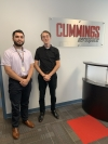Ben Savage, left, and Dillon Terry, are shown at Cummings Aerospace in Huntsville, Ala. where they both participated in a 10-week internship.