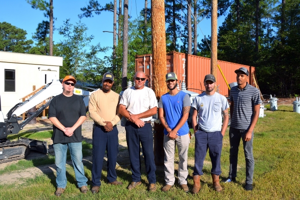 Completing the Transformer Concepts class at Richmond Community College were Michael Bowers, Steve Ellerbe Sr. and Tommy Hayes from Marlboro Electric Cooperative, Austin Shelley and Terry Powers from the City of Bennettsville, and Marcos Alcamtara.