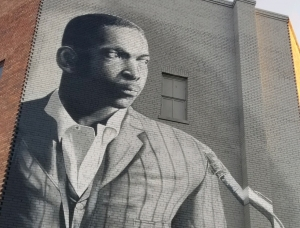 A mural of jazz legend John Coltrane, who was born in Hamlet, has been the talk of the town and beyond.