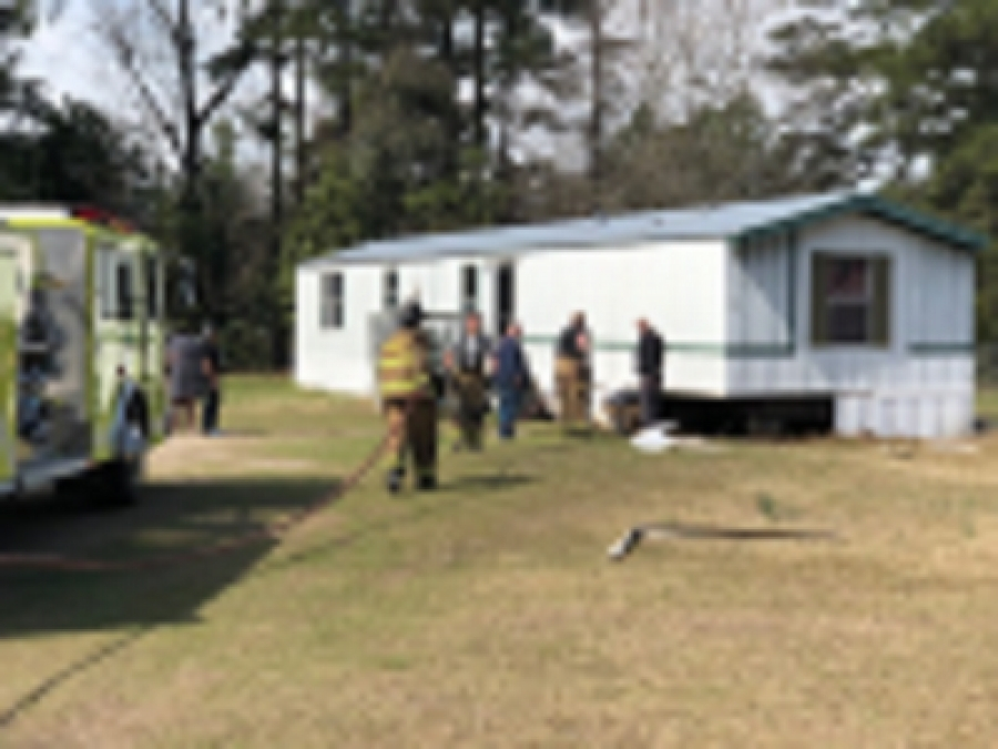 East Rockingham Fire Department Extinguishes Mobile Home