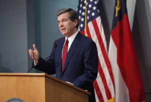 Gov. Roy Cooper, at a May 18, 2020, news briefing.