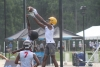 Junior Dalton Stroman goes up to catch one of his two touchdowns against Carolina Forest High School in Friday's pool play.