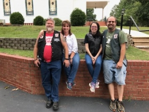 Heaven's Saints: Pee Dee Chapter. From left to right: Dale Kelly, Kathy Kelly, Candy Mingus, and Michael Mingus.
