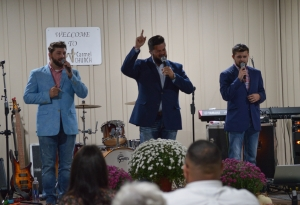 2nd Chance Ministries, from Cheraw, South Carolina, performs during a benefit concert Saturday for the family of the late Pastor Ricky Jacobs. See more photos at the bottom of this post.