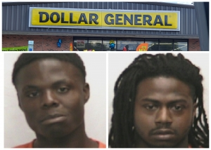 Jaylan Smith and Terris McLendon are accused of attempting to rob a Dollar General in Rockingham and robbing another store location in Ellerbe on Saturday.