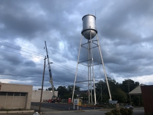 The city of Rockingham is selling a lease agreement for cellphone towers on a downtown water tower to a third party.