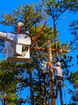 The Electrical Lineman program at Richmond Community College was used as an examble by college President Dr. Dale McInnis as a model for short-term training programs.