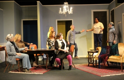 The cast of the female version of Neil Simon's 'The Odd Couple' have their first practice without scripts Monday night.