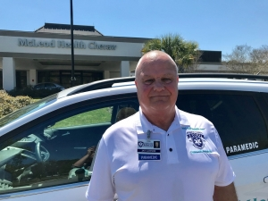 Marlboro County's community paramedic, Jay Lawson, visits patients outside of the traditional healthcare setting, by making home visits for non-emergent cases.