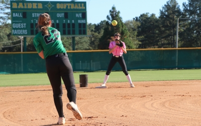 Lady Raiders return to the diamond after nearly 8-month break
