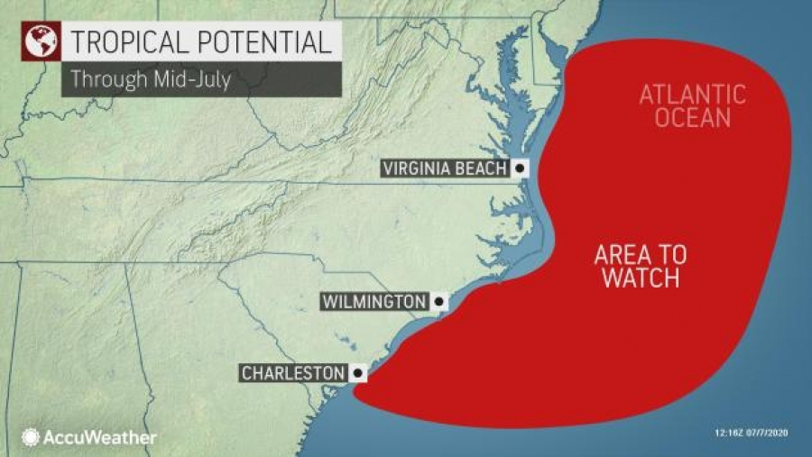 Could another 'homebrew' tropical system develop near East Coast?