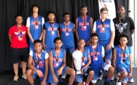 The seventh-grade Jammers following their NTBA national title win.
