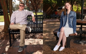 Bricen Duff and Abigail Parnell are UNC Pembroke's 2020 Maynor Honors College scholars.