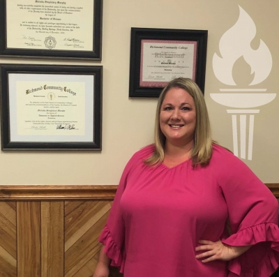 Richmond Community College graduate Melinda Murphy owns an accounting business in Rockingham. She graduated from the Accounting and Finance program at RichmondCC in 2017.