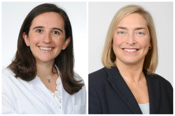 Melanie Blacker, M.D., neuro hospitalist at FirstHealth; Allison Duckworth, R.N., nursing executive for MRH–Richmond.