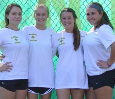 Richmond seniors (left to right): Meredith Stogner, Elizabeth Burns, Destiny Buie and Kathleen Pittman