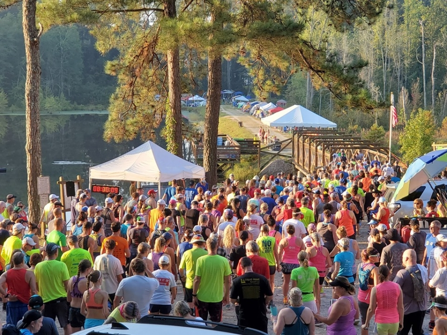 Nearly 400 runners take their first strides in the 14th annual Hinson Lake 24-Hour Ultra Classic on Saturday. See more photos on the Richmond Observer's Facebook page.